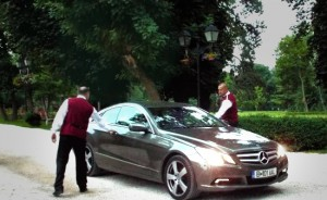 Chauffeured limousine